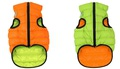 AiryVest Жилетка двусторонняя для собак, оранжево-салатовая, размер XS, S