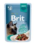 Brit Care Пауч премиум для кошек филе Говядины в соусе 85г*24шт