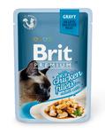 Brit Care Пауч Премиум для кошек Куриное филе в соусе 85г*24шт