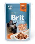 Brit Care Пауч Премиум для кошек филе Индейки в соусе 85г*24шт