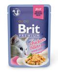 Brit Care Пауч Премиум для кошек Куриное филе в желе 85г*24шт