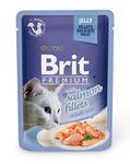 Brit Care Пауч Премиум для кошек филе Лосося в желе 85г*24шт