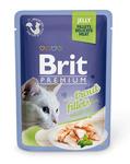 Brit Care Пауч Премиум для кошек филе Форели в желе 85г*24шт