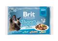 Brit Care Набор паучей Премиум для кошек кусочки в соусе 4*85г