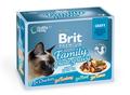 Brit Care Набор паучей Премиум для кошек в соусе Семейная тарелка 12*85г