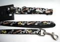 """ForMyDogs  Ошейник с поводком """"Macho Dog"""" черный лаковый, размер ошейника 1,5х24-37см, поводка 120см"""