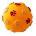 """MAJOR Игрушка для собак """"Мяч с рисунком лапки"""" с пищалкой винил 7.3 см"""
