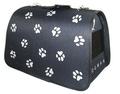 """DOGMAN Сумка -переноска для собак Лира №3 """"Лапки"""", черная, 44х27х27см"""