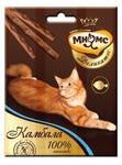 МНЯМС Деликатес лакомые палочки 9 см для кошек с камбалой 3х4 г