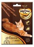 МНЯМС Деликатес лакомые палочки 9 см для кошек с лососем и манго 3х4 г