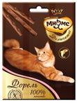 МНЯМС Деликатес лакомые палочки 9 см для кошек с форелью 3х4 г