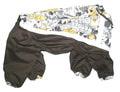 ZooPrestige Дождевик для средних пород собак, коричнево/серый, размер 3XL, спина 44см