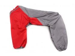 ZooPrestige Дождевик для больших пород собак, красный/серый, размер 5XL, спина 60см.