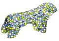ZooPrestige Дождевик для собак Дутик, мозаика/серый, размер XL, спина 36-40см