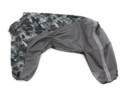 ZooAvtoritet Дождевик для больших собак, серый камуфляж, размер 4XL, спина 55см