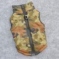 Куртка-попона для собак без рукавов утепленная, цвет камуфляж, размер L