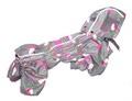 ZooPrestige Дождевик для собак Дутик, серый/клубника, размер L, спина 32-36см