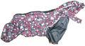ZooPrestige Дождевик для французского бульдога, серый/розовый, размер ФР-1, спина 40см