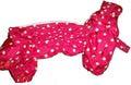 ZooAvtoritet Дождевик для собак Дутик, красный, размер L, спина 32-36