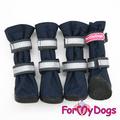 ForMyDogs Сапоги для собак на резиновой подошве, синие, размер №5, №6