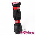 ForMyDogs Сапоги для крупных собак из водоотталкивающей двухслойной ткани с усиленной защитой от воды, черные, размер №9, №10