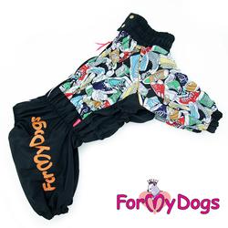 """ForMyDogs Дождевик для крупных собак """"Кеды"""", размер D2, модель для мальчиков"""