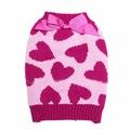 """Al1 Свитер для собак трикотажный """"Сердечки"""", размер S розовый/малиновый"""