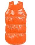 Al1 Куртка для собак на теплой подкладке из меха, цвет оранжевый, размер L, длина 34см