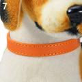 Al1 Ошейник из искусственной кожи оранжевый, размер S, 15-20cм