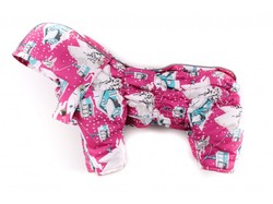 "ZooPrestige Комбинезон для собак Дутик ""Зима"" малиновый, размер XL, спина 36-40см"