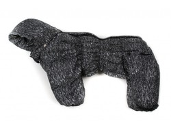 ZooPrestige Комбинезон для собак Дутик, черный/крапинка, размер 2XL