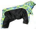 ZooPrestige Комбинезон для средних пород собак Дружок, черно/зеленый, размер XL, спина 36-40см, флис