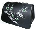 DOGMAN Сумка -переноска Лира №3, Кошки, черная, 44х27х27см