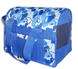 DOGMAN Сумка-переноска для кошек и собак Стандарт №1, голубой микс, размер 30х22х25,5см