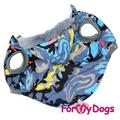 ForMyDogs Куртка для крупных собак камуфляж серая, размер С3