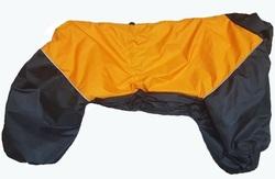 LifeDog Дождевик для крупных пород собак, черно/оранжевый, размер 7XL, спина 75-85см