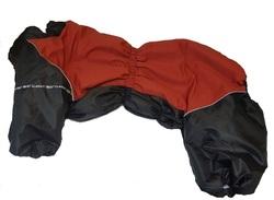 LifeDog Комбинезон для крупных пород собак, черно/красный, размер 7XL, для девочек, спина 75-85см