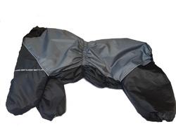 LifeDog Комбинезон для крупных пород собак, черно/серый, размер 7XL, для девочек, спина 75-85см