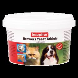 Beaphar Brewers Yeast Tablets Витамины с пивными дрожжами и чесноком для собак и кошек, 250 таб