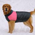 Al1 Куртка для крупных собак, черно/розовая, размер 5XL, длина спины 57см