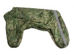ZooPrestige Дождевик для больших собак, хаки/пиксель, размер 4XL, спина 55см