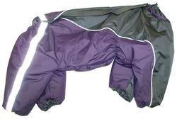 ZooPrestige Комбинезон утепленный, Шарпей, размер 4XL, баклажан/серый, спина 55см