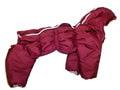 ZooPrestige Комбинезон для средних собак утепленный Дутик, бордо, размер 2XL, спина 40-44см