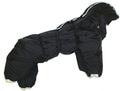 ZooPrestige Комбинезон теплый Дутик, черный, синтепон размер 2XL спина 44см