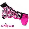 ForMyDogs Комбинезон для такс розовый, размер ТС2, модель для девочек
