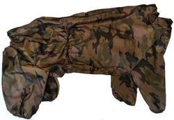 LifeDog Комбинезон для больших пород собак утепленный камуфляж зеленый, размер 6XL, спина 65см