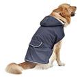 Жилет-попона для собак больших пород, цвет темно-синий, мех, размер XL