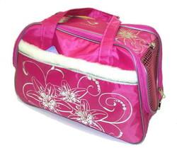 DOGMAN Сумка -переноска для собак модельная №7М с мехом, розовая, 40х19х25см.