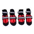 Al1 Ботиночки-носочки для крупных пород собак, цвет черный/красный, размер М, 2XL