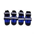 Ботиночки-носочки для крупных пород собак, цвет черный/синий, размер М